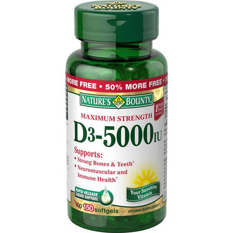 Compare Amp Buy Nature S Bounty Vitamin D3 5000 Iu Online