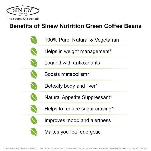 Compare Buy Sinew Nutrition Arabica Green Coffee Beans Powder