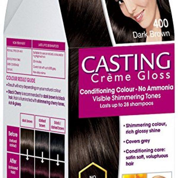 L'Oreal Paris Casting Creme Gloss Hair Color Dark Brown 400 150ml