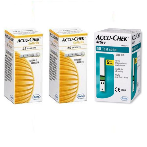 Accu-Chek-Active-50-Strips-&-2-Pack-of-25's-Lancets-Combo