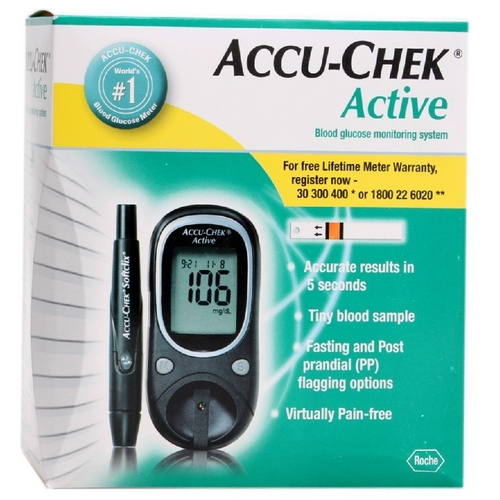 Buy Accu Chek Active Kit With 25 Strips Online In India At