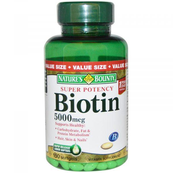 Nature's Bounty Super Potency Biotin 5000 mcg