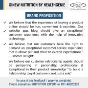 Sinew Nutrition By Healthgenie Brand Proposition
