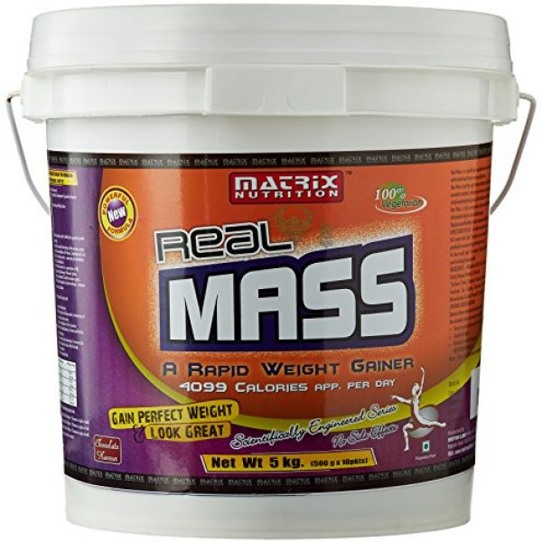 Compare Amp Buy Matrix Nutrition Real Mass 5 Kg Chocolate