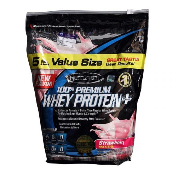 Muscletech 100% Premium Whey Protein + Strawberry 5 lb