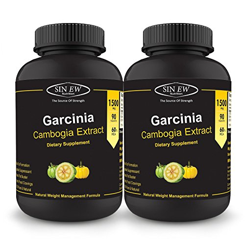 Sinew Nutrition Garcinia Cambogia 90 Caps 1500 mg/Serve (Pack of 2), 100 % Veg, Pure & Natural Weight Management & Appetite Suppressant Supplement | Healthgenie.in