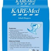 "Kare-Med-Adult-Unisex-Diapers-waist-size-76cm-to-114cm-or-30""-45""-10-Diapers"