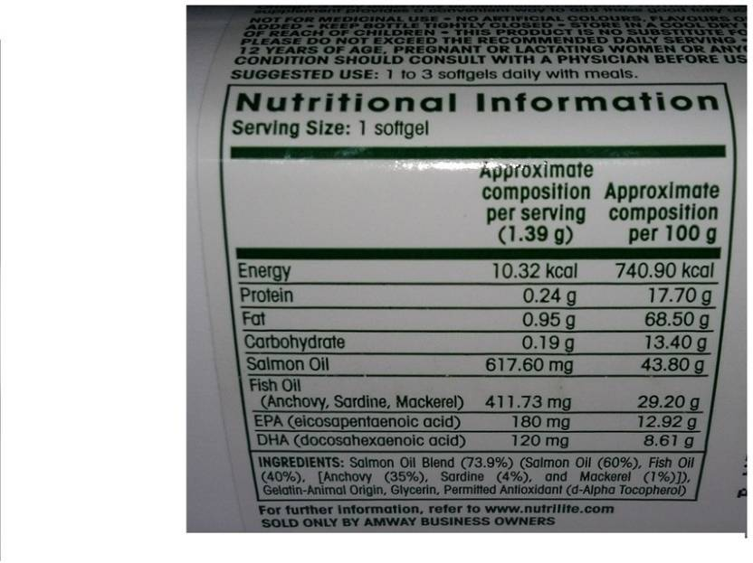 Compare Buy Amway Nutrilite Salmon Omega 3 60 Tab Online In