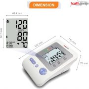 Healthgenie Digital Upper Arm Blood Pressure Monitor Bpm02 Fully Original Imaewqrswggatvmf