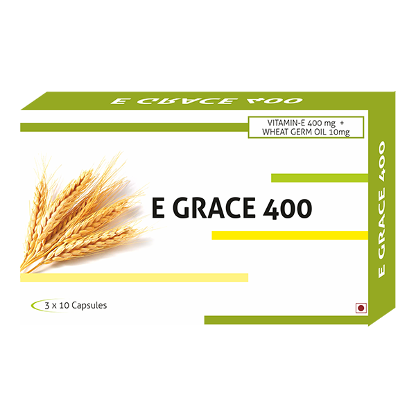Compare & Buy E- Grace Vitamin E 400mg + Wheat Germ Oil 10mg Capsules Online In India At Best Price   Healthgenie.in