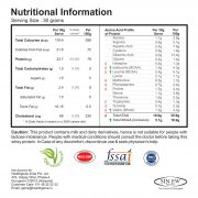Whey Protein 79 Nutritional Information