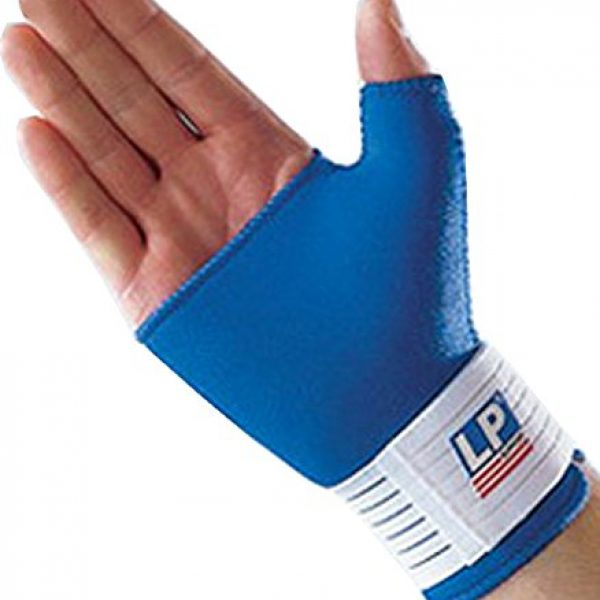 Lp Neoprene 752 Wrist/thumb Support, Royal Blue Small