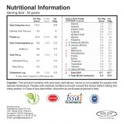 Whey Protein 92 Nutritional Information