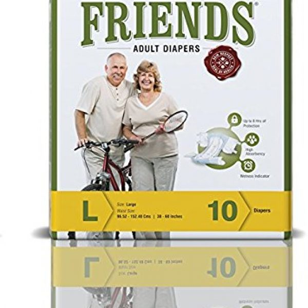 Friends Adult Diaper Easy Large Pack Of 6 1