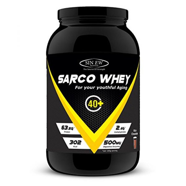 Sinew Nutrition Sarco Whey Protein With Digestive Enzyme 1 Kg (rich Chocolate)
