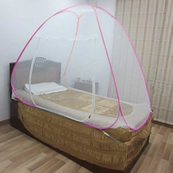 Healthgenie Mosquito Net Single Bed Pink (foldable)