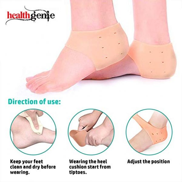 Healthgenie Silicon Gel Heel Cushion Pad With Aloe Vera fragrance