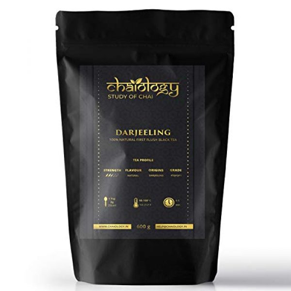 Chaiology Darjeeling Whole Leaf Black Tea, 600g (300 Cups)