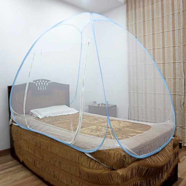 Mosquito Net Single Bed Blue