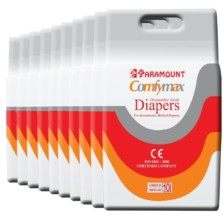 Paramount Comfymax Premium Adult Diapers, Medium – Pack of 100, (71cm-101cm | 28″-40″)