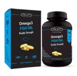 Sinew Nutrition Omega 3 Double Strength Fish Oil 1000mg (300EPA & 200DHA), 60 Softgels