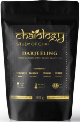 Chaiology Darjeeling Black Tea, 100g (50 Cups) | 100% Natural Loose Leaf Tea