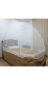 Healthgenie Foldable Mosquito Net Single Bed – White, With Repair Kit of 7 Patches Included