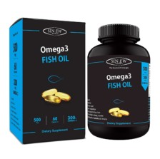 Sinew Nutrition Omega 3 Fish Oil 500mg (150EPA & 100DHA), 60 Softgels