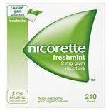 Nicorette Gum (Sugar-free) – 210 Gums 2mg