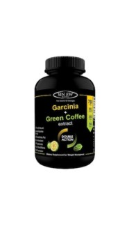 Sinew Nutrition Weight Management Combo 750mg (Garcinia Cambogia and Green Coffee Bean Extract) – 90 Pure Veg Capsules, 100 % Pure & Natural Appetite Suppressant Supplement