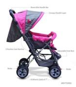 Ador Comfort Baby Stroller 33 Pink