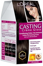 L'Oreal Paris Casting Creme Gloss Hair Color -Dark Brown 400 150ml