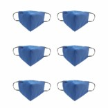 Healthgenie FM 101 Premium Quality Washable & Reusable Double Layered Cloth Face Mask (Color May Vary) Universal Size Assorted Color-Pack Of 6