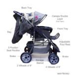 Ador Luxe Baby Stroller 55 Beige