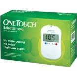One Touch SelectSimple Glucometer Kit with 50 Strips