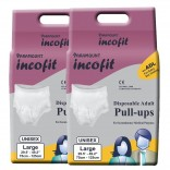 Paramount Incofit Adult Diaper Pants Pull up Large Pack of 20, Size 75cm-125cm (29.5″-49.2″)