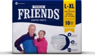 Friends Protective Underwear for men & Women Disposable Pull-ups – L-XL (10 Count)