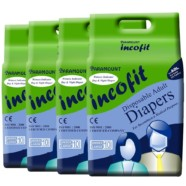 Incofit Premium Adult Diapers-Large, Pack of 40