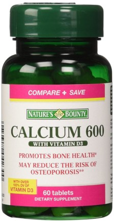 Nature's Bounty Calcium 600 with Vit. D3 60Tabs