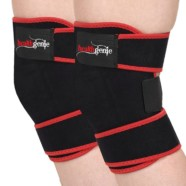 Healthgenie Adjustable Knee Support (One Pair), Free Size Fits Most (Black)