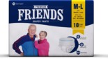 Friends Adult Pullups – Medium to Large (10 Count)