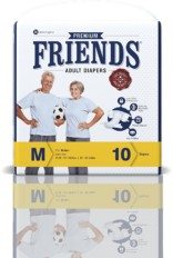 Friends Adult Diaper (Premium) – Medium (10 Count)