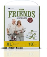Friends Adult Diaper (Basic)  Extra Large (Pack of 12)