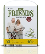 Friends Adult Diaper (Basic) Extra Large  (Pack of 6)