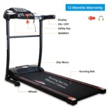 Healthgenie Motorized Treadmill 3911M with Massager & Lubricant, Max Speed 10 Kmph