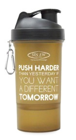 Sinew Nutrition Smart Shaker Bottles Available 600ml -20 oz (Brown/Black)
