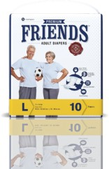 Friends Adult Diaper (Premium) – Large (10 Count)