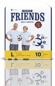Friends Adult Diaper (Premium) – Large (10 Count)