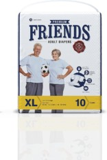 Friends Adult Diaper (Premium) – Extra Large (10 Count)