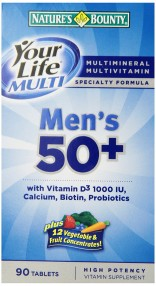 Nature's Bounty Your Life Multi Men's 50+ 90 tabs